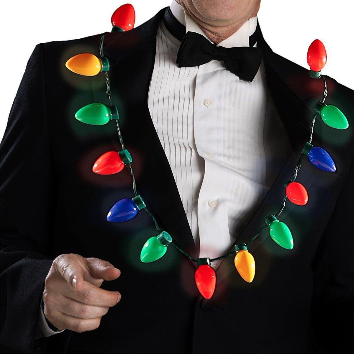 3 flashing modes gentle glow flashing quick bright flashing quicker keep lighting - Light Up Christmas Tie